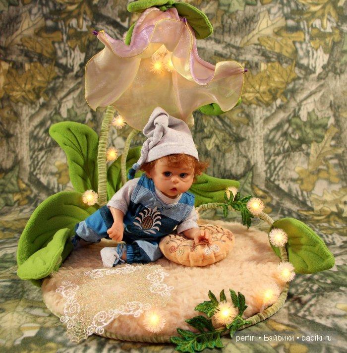 "Колыбелька ""Колокольчик"". Кукла реборн эльфик Рыжик. Автор Ирина Перфилова (Perfiri)"