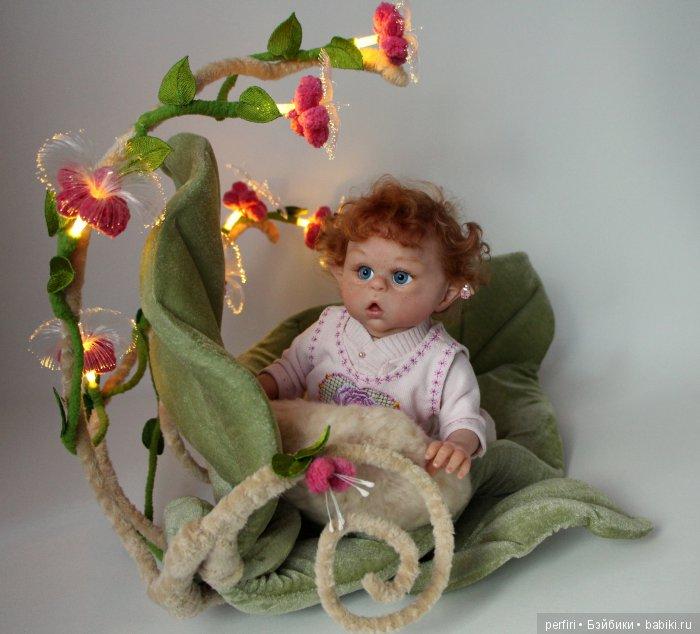 """Колыбель эльфика """"Ипомея"""" для куклы 30 см."""
