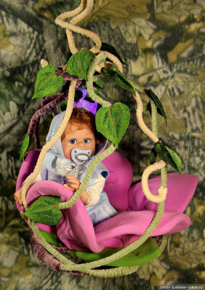 """Колыбель эльфика """"Гнёздышко""""для куклы 30 см."""