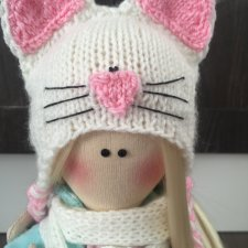 """Интерьерная кукла из ткани ручной работы """"Кетти"""""""
