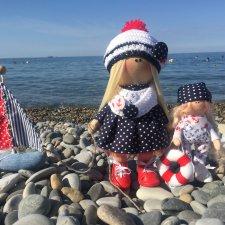 Морские девочки Эмили и Софи. Куклы из ткани