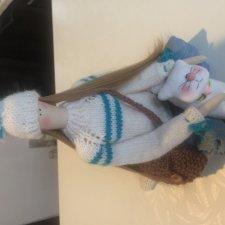 Зимняя Тильдочка. Кукла из ткани