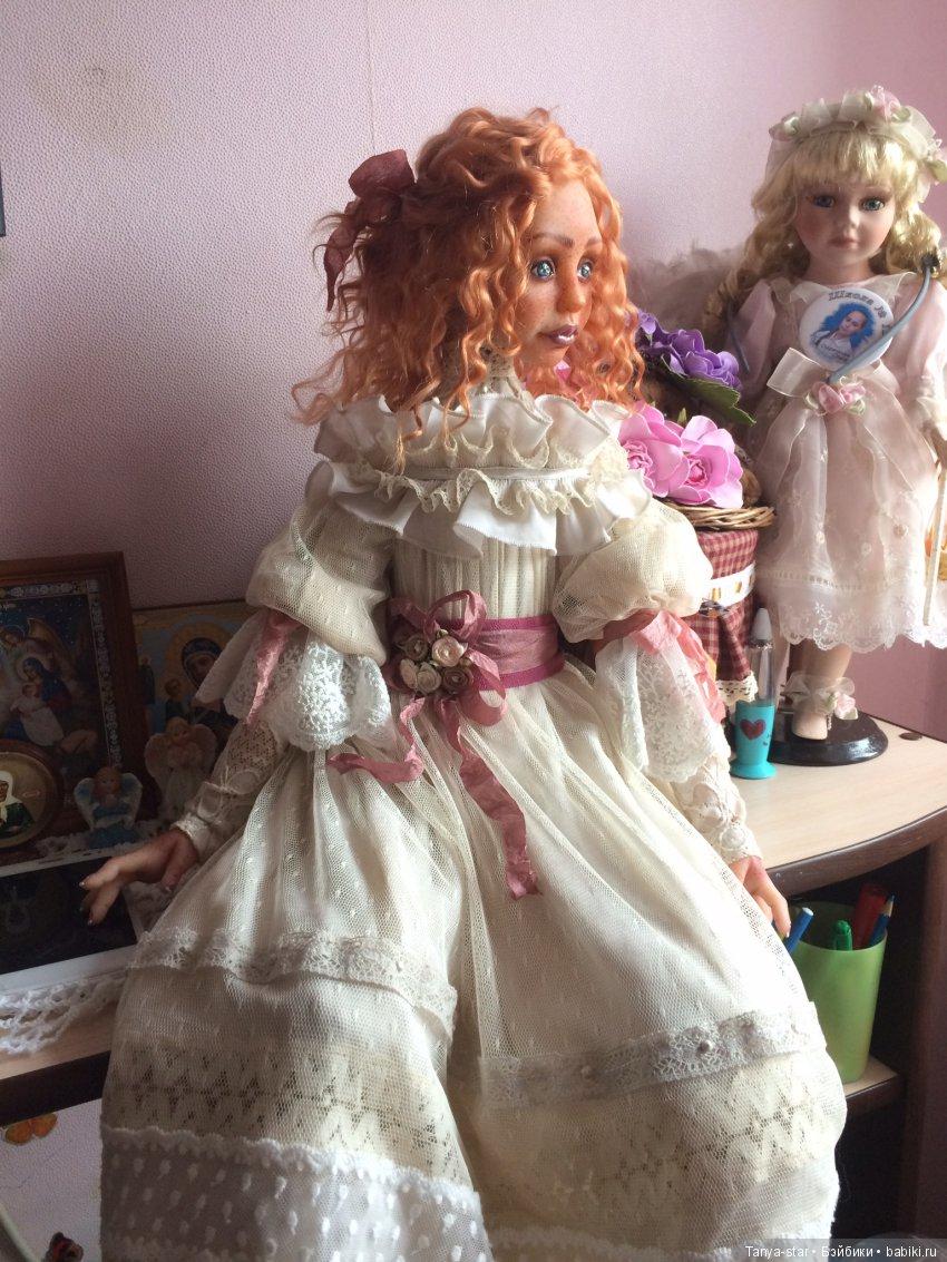 Татьяна Старичкова, будуарная кукла из полимерной глины Цернит, рост 70 см