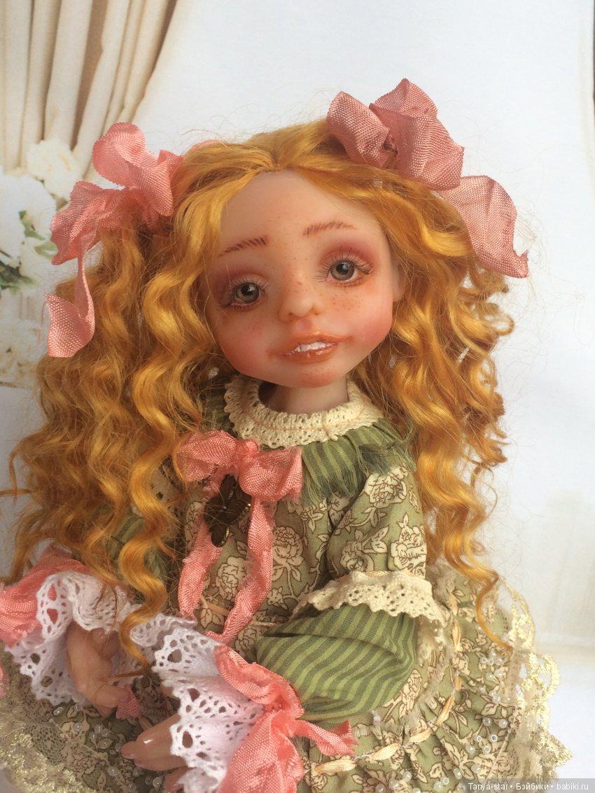 Каркасная куколка из полимерной глины Цернит, рост 27 см