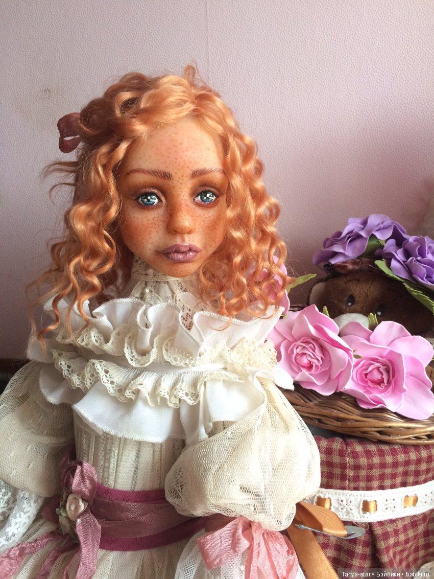 Будуарная кукла из полимерной глины Цернит, рост 70 см