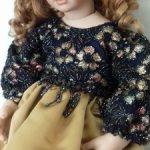 Красивое платье для куклы 75-80 см.