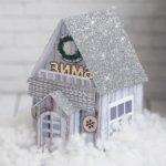 """Набор для создания бумажного домика """"Зимнее волшебство"""""""