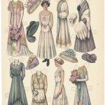 """Бумажные куклы """"The Lettie Lane"""" и """"Betty Bonnet's"""", 1900е г."""