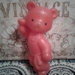 Большой пластиковый медведь времен СССР. Возможно деталь..