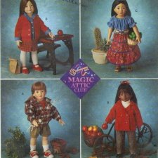"""Simplicity 8451 Doll Clothes Pattern for 18"""" Dolls"""