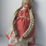 Кукла девушка в Ивановском костюме .Народные гуляния.