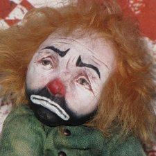 Грустный Вилли, кукла ручной работы