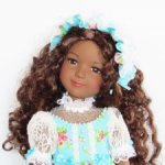 Платье и боннет для куклы Ruby Red