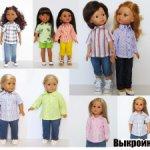 Выкройка рубашки для кукол