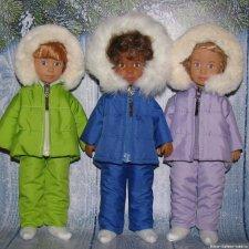 Зимние куртки или комплекты  для кукол Крузелинг и мини Паола