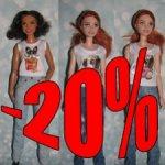 -20% Весенняя распродажа!  Джинсовые куртки, юбки, джинсы для Барби петит, пышки,йоги.