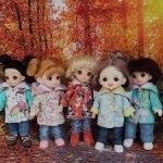 Новые расцветки! Курточки для кукол ростом 16-17 см