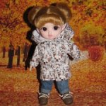 Курточка для кукол ростом 16-17 см