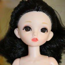 """Шарнирная кукла """"большая баболийка"""" с черными локонами"""