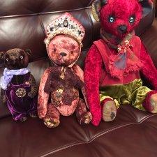 Медведь тедди, граф Вишенка созданный в единственном экземпляре.