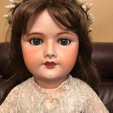 Прекрасная антикварная кукла  Unis 301 Франция, рост 80 см СРОЧНО!!! Снижение цены 41000