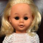 Винтажная немочка, Раунштайн, 35 см, блондинка с карими глазами, ГДР