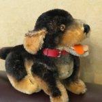 Винтажный очаровательный щенок Steiff