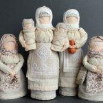 Интерьерные куклы в народном стиле.