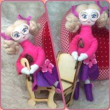 Мои первые работы по созданию текстильных кукол по схеме Олеси Нестратовой