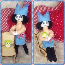 Продолжаю творить и придумывать новых куколок из ткани