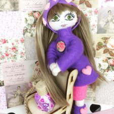 Текстильная кукла Юленька для любимой подружки