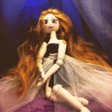 Моя новая текстильная куколка Изабелла
