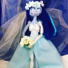 """Моя новая текстильная куколка по мотивам мультфильма Тима Бертона """"Труп невесты"""", с хэллоуином друзья"""