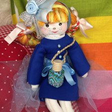Моя новая куколка из ткани Кнопочка