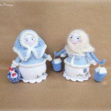 Тетушка Зима. Мои вязанные куколки в народном стиле