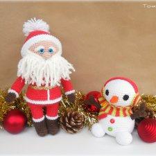 Новогодние подарочки - игрушки вязанные крючком