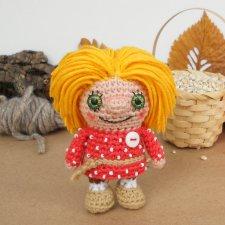 Домовенок Кузька, вязанная кукла
