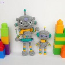 Роботы тоже бывают феями  - игрушки связанные крючком