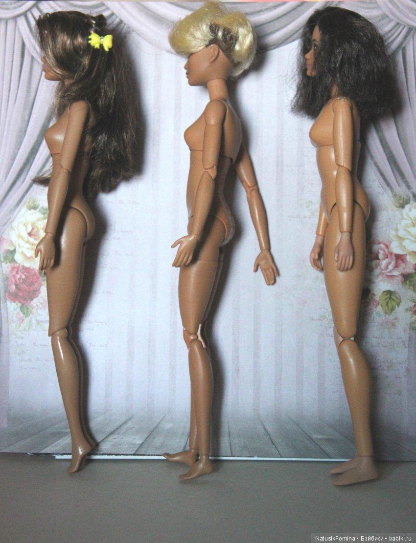 Сравнение 3-х тел барби