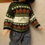 Турецкий свитер из 90-х на куклу 45-60 см
