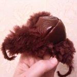 Шапка-ушанка для bjd 1/4 и других кукло- и зверожителей с обхватом головы 15-17 см