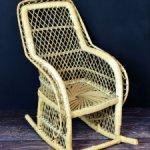 Классное плетеное кресло для куклы, мебель