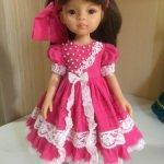 Paola Reina ярко-розовое штапельное платье
