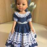 Паола Рейна штапельное синее платье