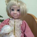 каркасная кукла с куклой