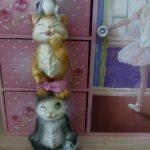 Статуэтка кошки-мышки
