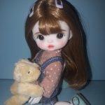 Шарнирная куколка с медвежонком