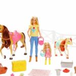 Барби и Челси  с любимыми лошадками