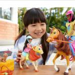 Барби и Челси афро на лошадях.