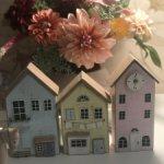 Деревянные домики.